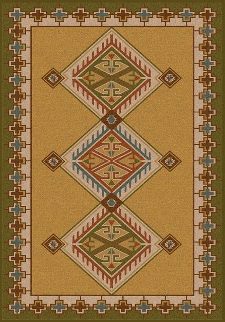 "Ancestry/Green 4x5 Rug by American Dakota (3'10"" x 5'4"")"