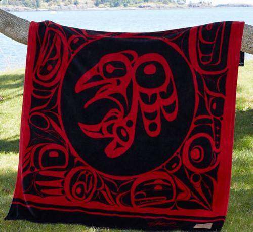 Bill Helin Raven Velura Plush throw blanket