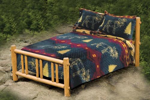 Cabin Fever Moose Fever Blanket