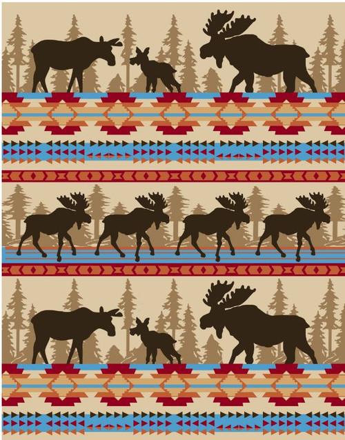 Cabin Fever Moose Family Blanket