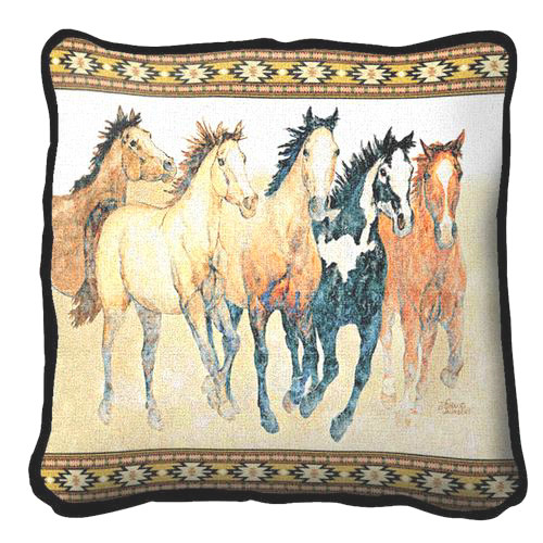Steppin Out Horse Tapestry Pillow