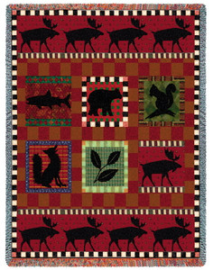 Adirondack Lodge Tapestry Throw PC1921-T