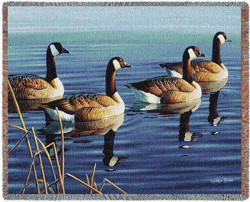 Afternoon Procession Canada Geese Tapestry Throw PC4716-T