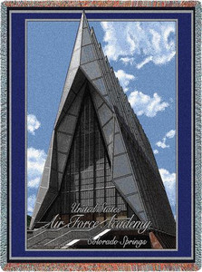 United States Air Force Academy Stadium Throw Blanket (Cadet Chapel) (54x70 Inches)