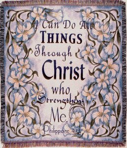 All Things in Christ Tapestry Throw