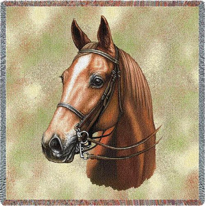 American Saddlebred Horse Lap Square Throw