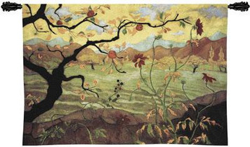 Apple Tree with Red Fruit Tapestry Wall Hanging PC-3089-WH