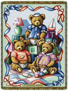 Baby Bears Mini Tapestry Throw L60002