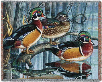 Backwater Woodies Duck Tapestry Throw PC4718-T