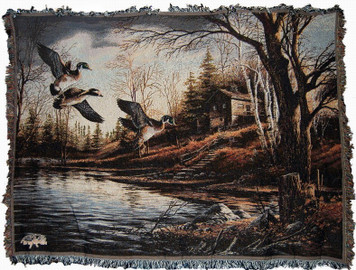 Backwoods Cabin Tapestry Throw 10430