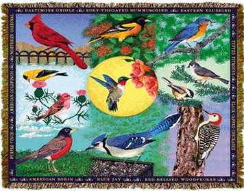 Backyard Birds Tapestry Throw MS-2592TU4