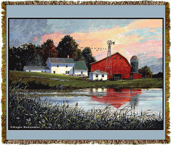 Bansemer Farmscapes Tapestry Throw MS-6065TU4