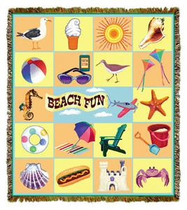 Beach Fun Tapestry Throw MS-3750TU4