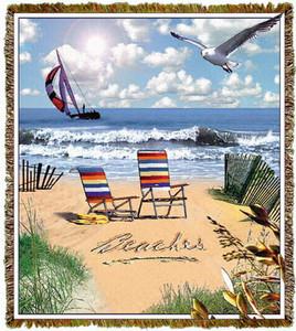 Beaches Tapestry Throw MS-7399TU4