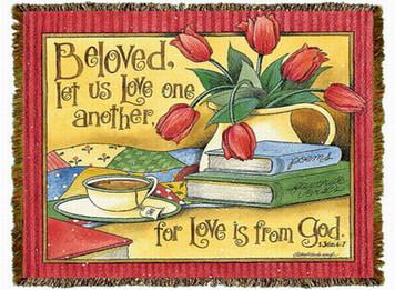 Beloved Let Us Love Tapestry Throw MS-4057TU4