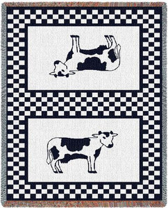 Bessie Cow Two Layer Woven Throw PC137-A