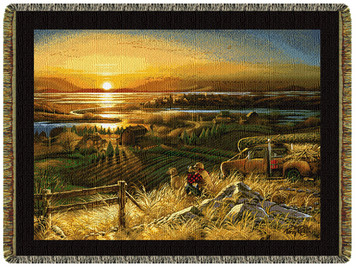 Best Friends Tapestry Throw by Terry Redlin