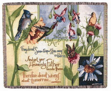 Birds of the Air Tapestry Throw