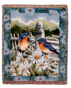 Bluebird Summer Throw Blanket