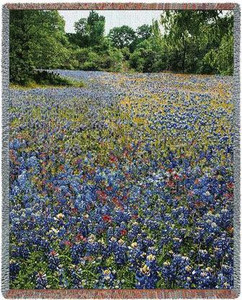 Bluebonnets Tapestry Throw