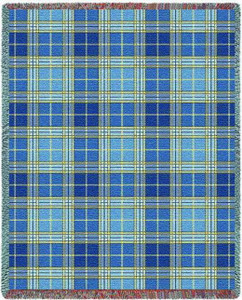 Blue Bell Plaid Tapestry Throw PC3800-T
