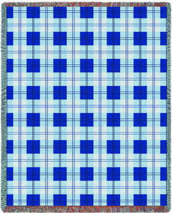 Blueberry Plaid Tapestry Throw PC3863-T