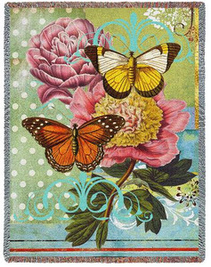 Botanical Coquette Tapestry Throw