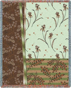 Botanical Swatches Jade Tapestry Throw PC3856-T