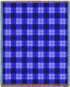 Boysenberry Plaid Tapestry Throw PC3831-T