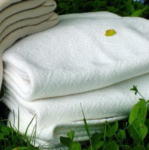 Sahara White Cotton King Luxury Bed Blanket