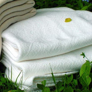 Sahara White Cotton Luxury Blanket Twin