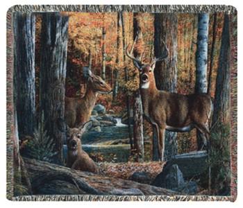 Broken Silence Deer Tapestry Throw