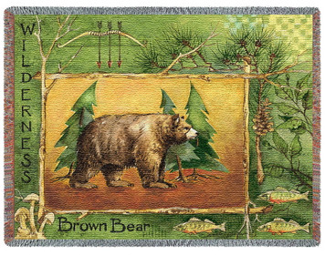 Brown Bear Tapestry Throw PC2456-T