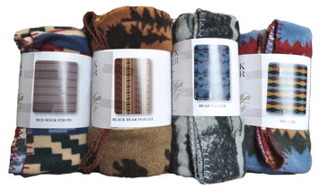 SOLD OUT Buck River Fleece Throws - 2 Styles