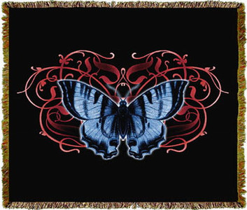 Single Butterfly Tapestry Throw MS-4489TU3