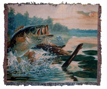 SOLD OUT! Buzz Off Fish Tapestry Throw
