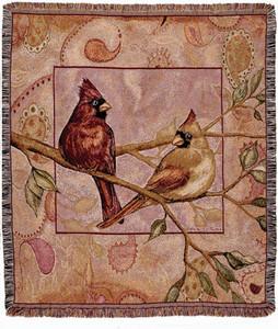 Cardinal Companions Tapestry Throw