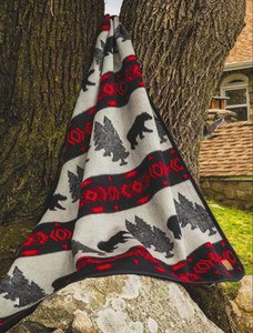 OUT OF STOCK   Cabin Fever Bear Camp Blanket Twin