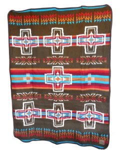 Cabin Fever Canyon Cross Blanket