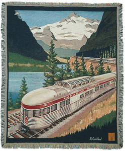 The Canadian Pacific Railway Tapestry Throw