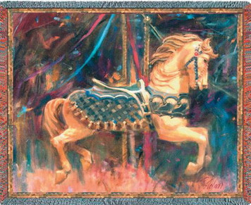 Carousel Horse Tapestry Throw PC1264T