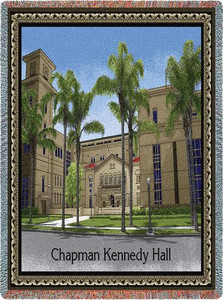 Chapman University Stadium Throw Blanket (Kennedy Hall) (54x70 Inches)
