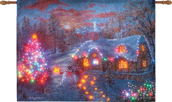 Christmas Cottage Lighted Wall Hanging