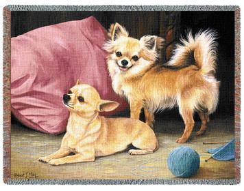 Chihuahua Dog Tapestry Afghan of Throw