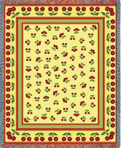 Cherries Jubilee Tapestry Throw