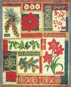Christmas Collage Afghan or Throw