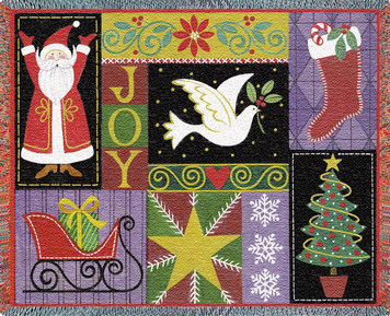 Christmas Icons Afghan or Throw PC 2443-T