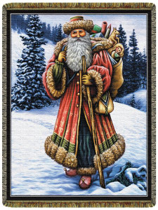 Christmas Santa Tapestry Throw L10119