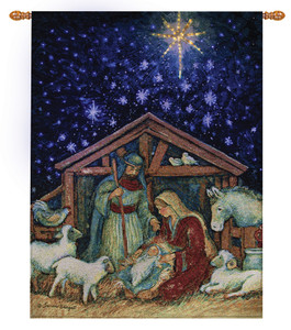 Away in a Manger Lighted Wall Hanging