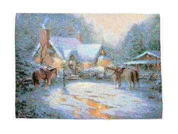 Christmas Welcome Lighted Wall Hanging by Thomas Kinkade